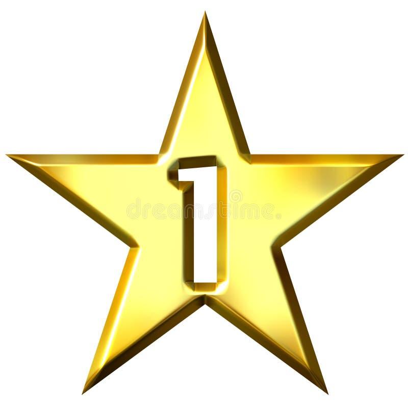 1 звезда номера бесплатная иллюстрация