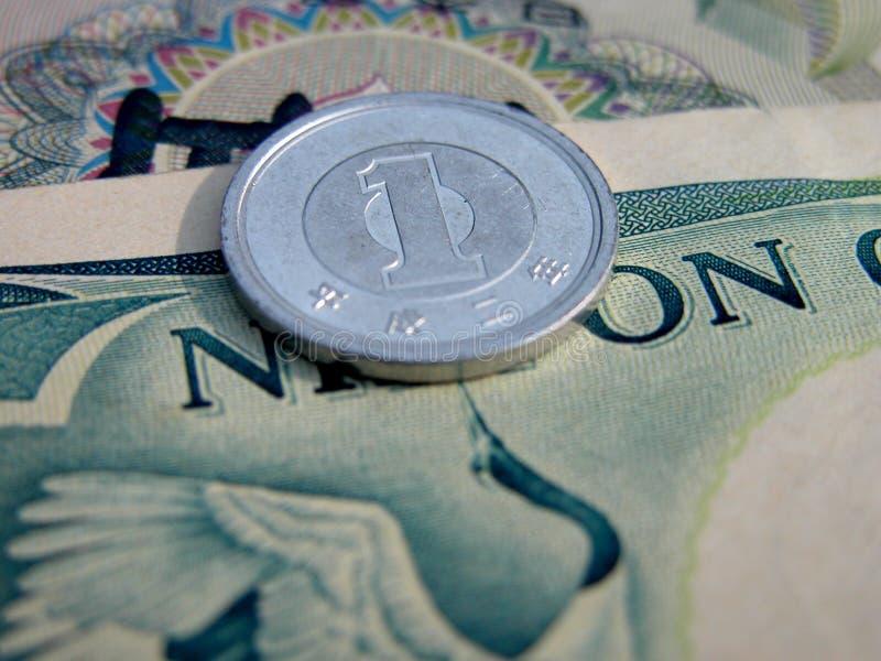 1 иена стоковая фотография rf