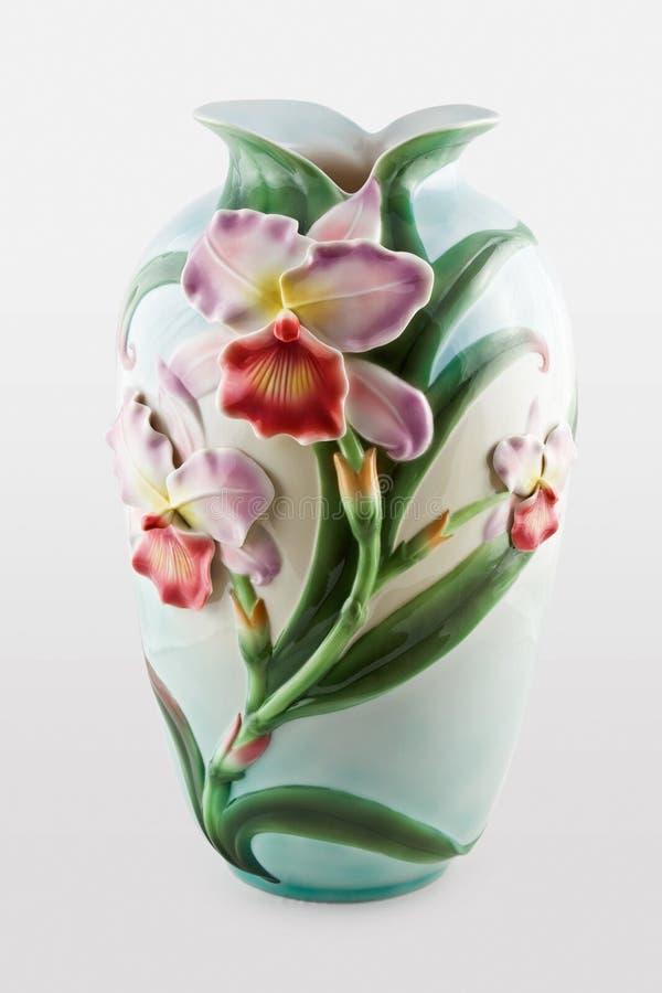 1 керамическая украшенная ваза стоковое изображение rf