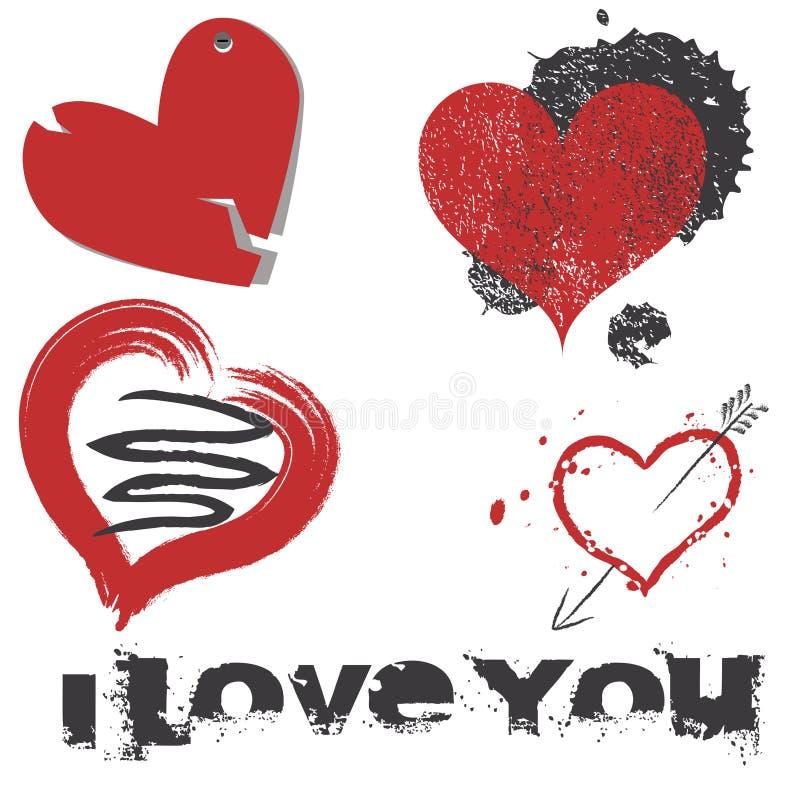 1 комплект влюбленности иллюстрация вектора