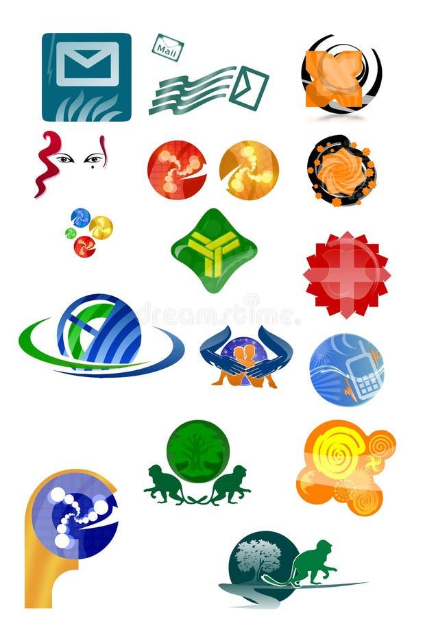 1 комплект логоса цвета стоковое изображение rf