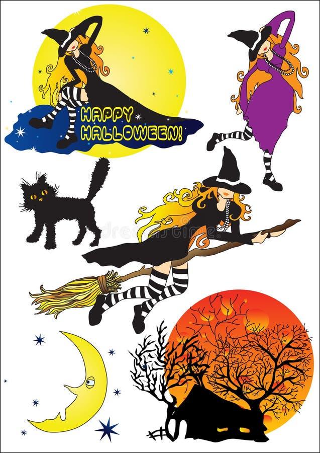 1 комплект halloween бесплатная иллюстрация