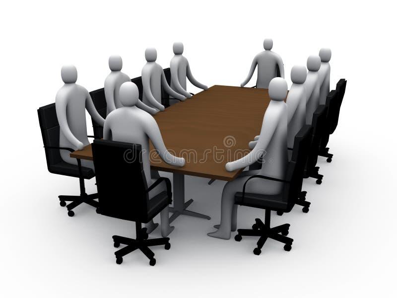 1 конференц-зал 3d иллюстрация вектора