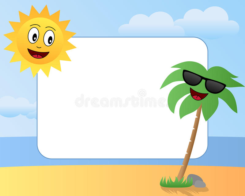 1 лето фото рамки шаржа бесплатная иллюстрация