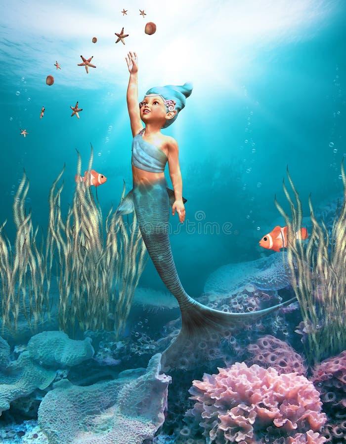 1 маленький mermaid бесплатная иллюстрация
