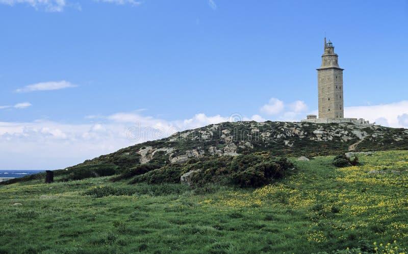 1 маяк hercules стоковое фото