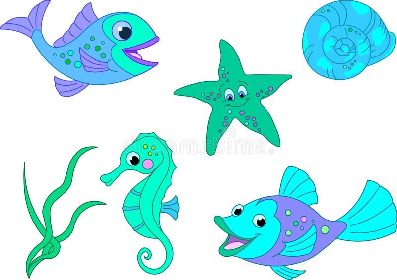 1 море иллюстрация штока