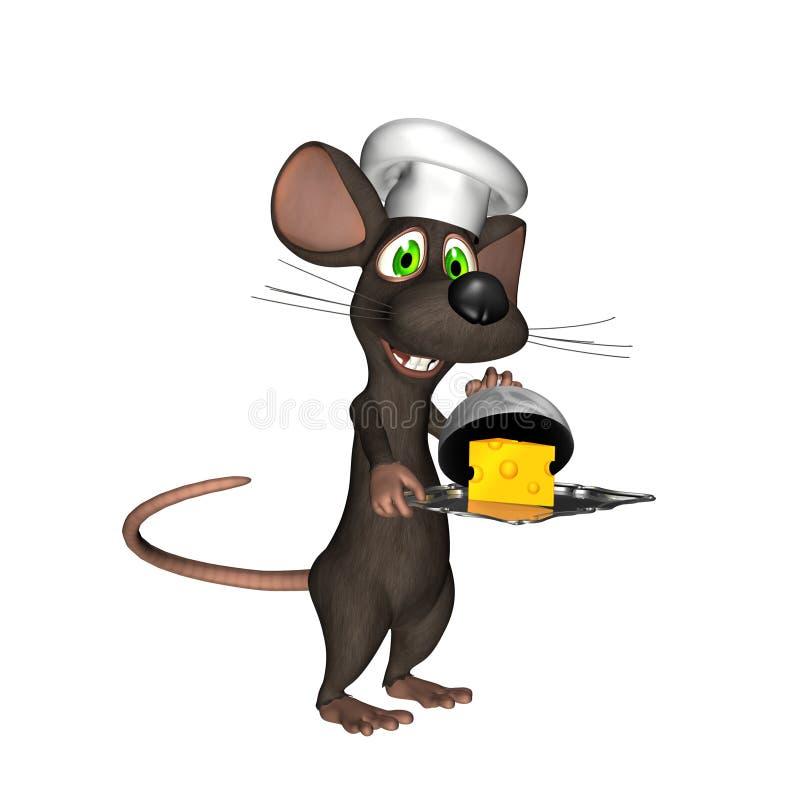 1 мышь шеф-повара иллюстрация вектора