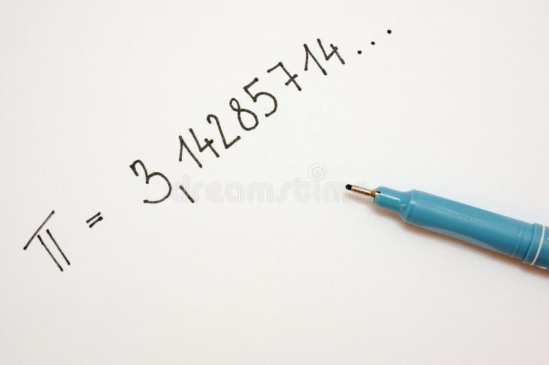 1 номер pi стоковое изображение