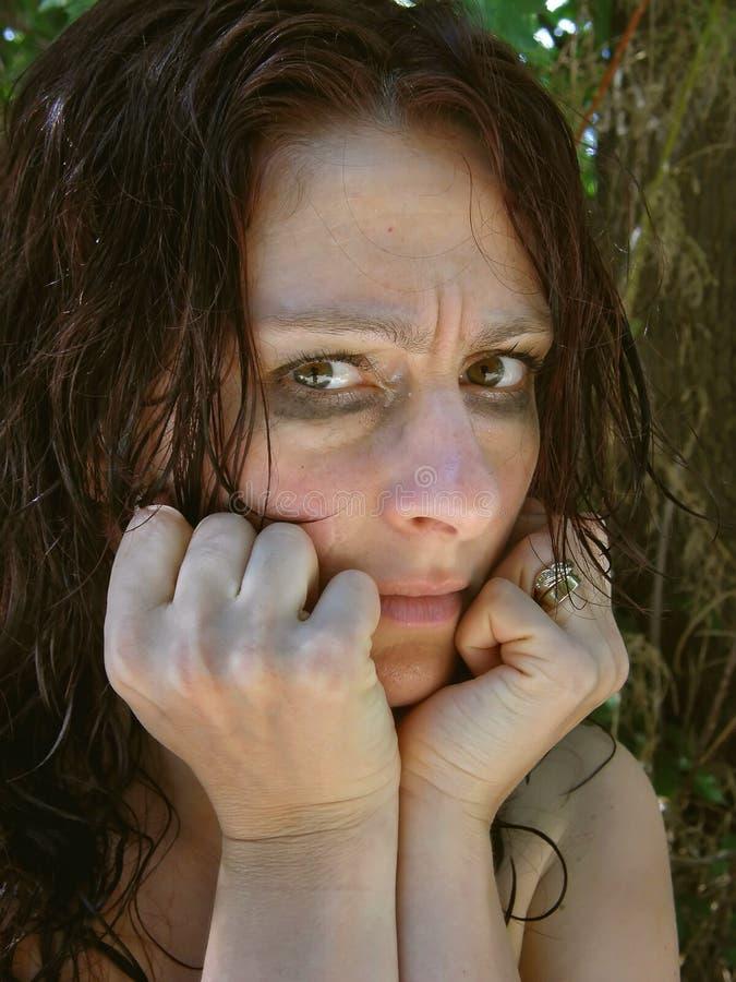1 обезумевшая женщина стоковое изображение rf