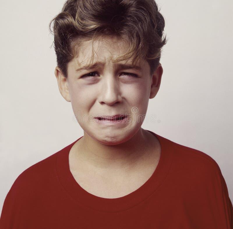 1 осадка больноя мальчика стоковое фото rf
