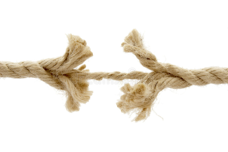 1 отрезанная веревочка стоковое изображение rf