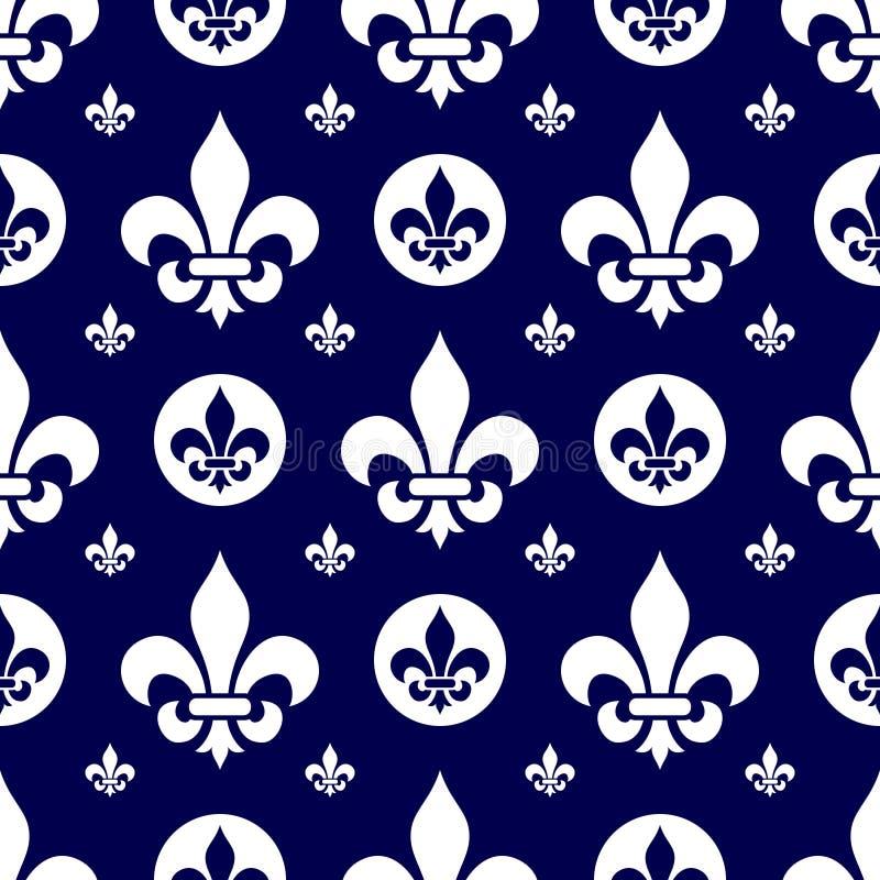 1 плитка lys de fleur безшовная иллюстрация штока