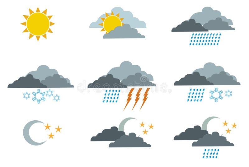 1 погода символов иллюстрация вектора
