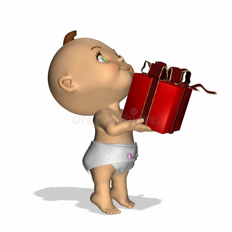 1 подарок младенца иллюстрация вектора