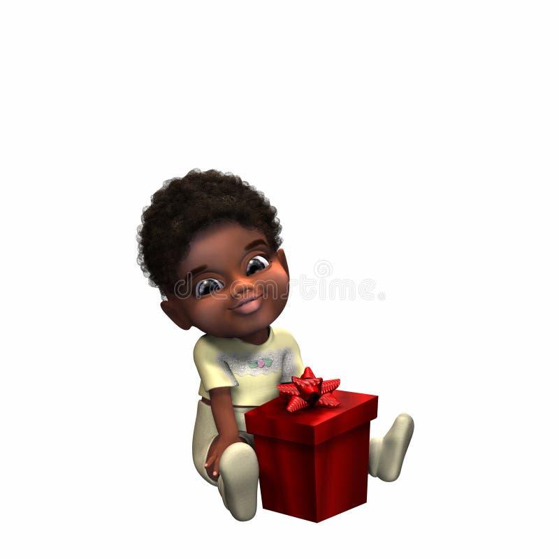 1 подарок рождества бесплатная иллюстрация