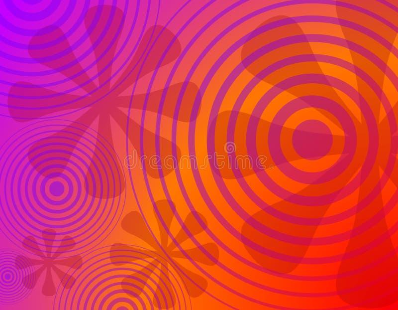 1 предпосылка объезжает ретро цветков радиальное иллюстрация вектора