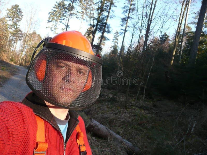 1 работник пущи стоковое фото