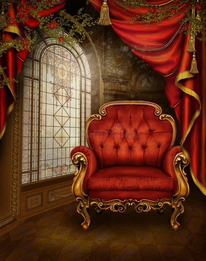 1 сбор винограда комнаты иллюстрация штока