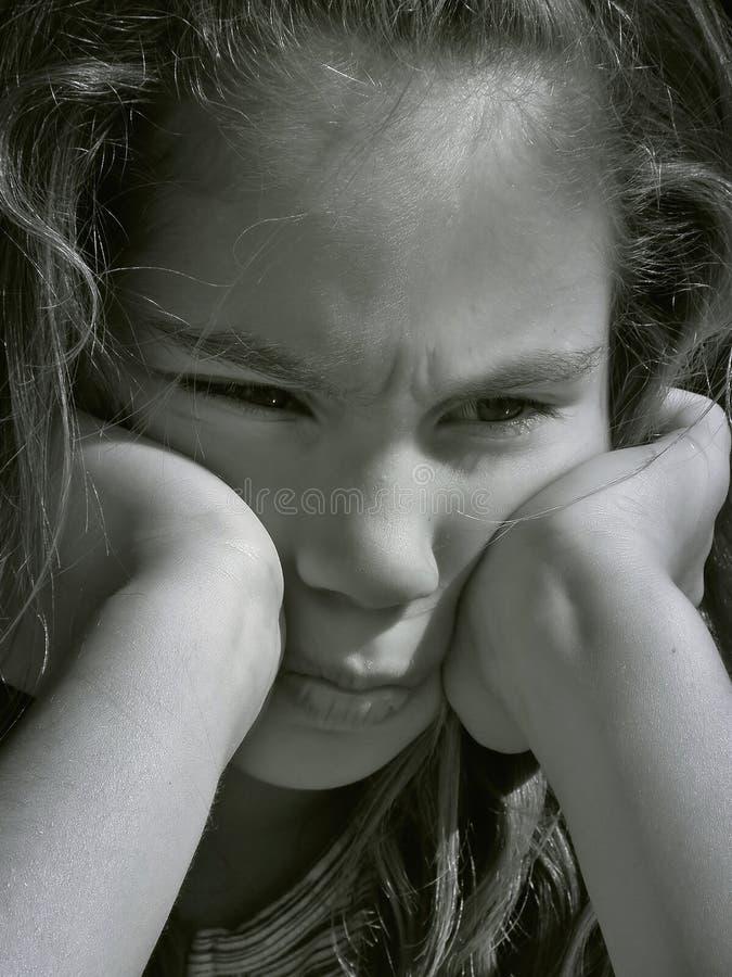 1 сердитая девушка стоковые изображения rf
