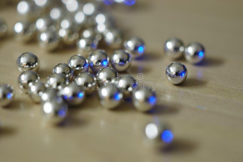 1 серебр шариков стоковое фото rf