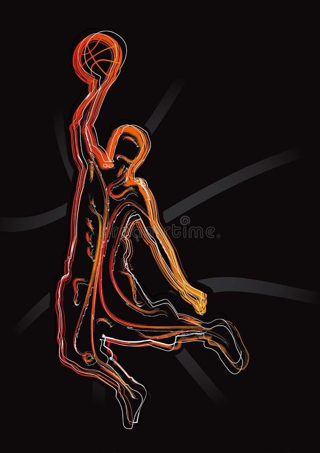1 силуэт баскетбола установленный иллюстрация вектора