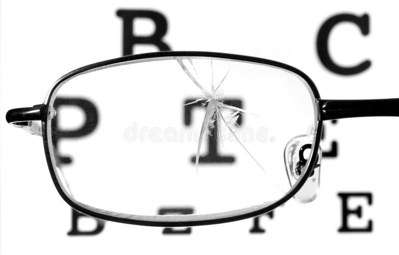 1 сломленное стекло стоковое фото