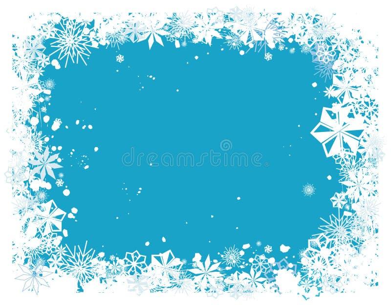 1 снежинка граници бесплатная иллюстрация