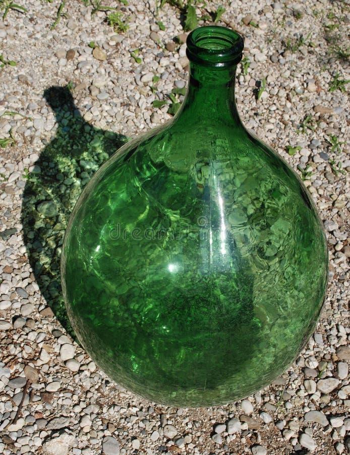 1 стеклянный зеленый цвет стоковая фотография