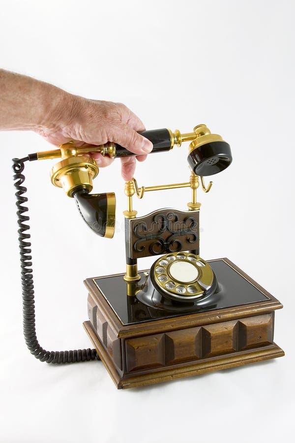 1 телефон старого типа стоковое фото