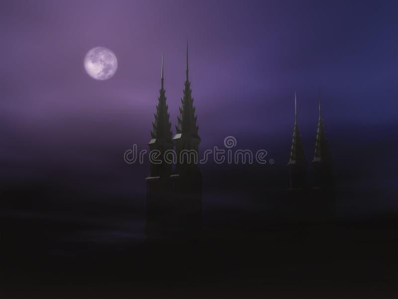 1 туманнейшая ноча halloween стоковые изображения rf