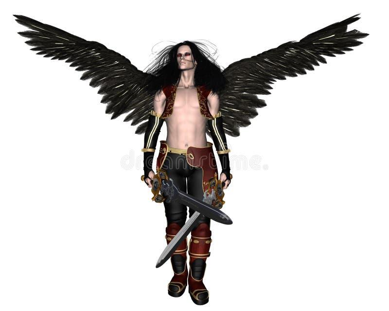 1 упаденный ангел иллюстрация штока