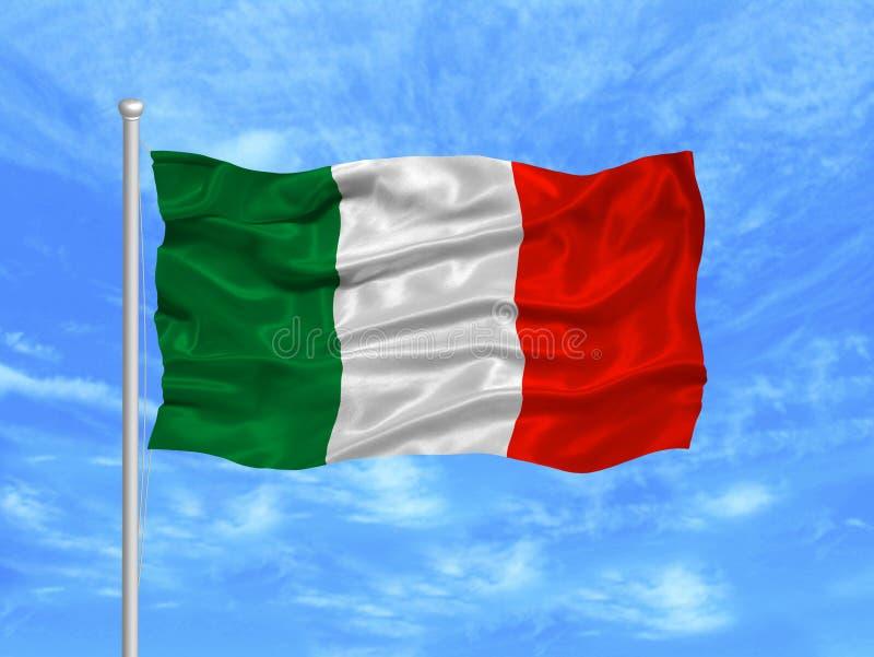 1 флаг Италия иллюстрация вектора
