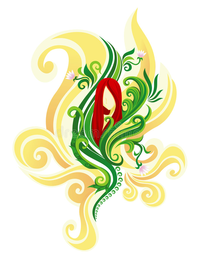 1 флористическая богина иллюстрация штока