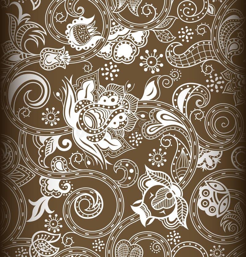1 флористическая картина безшовная иллюстрация штока