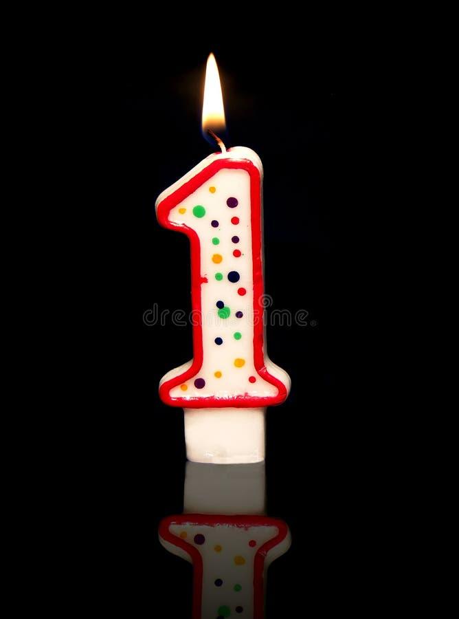 1-ый день рождения стоковые изображения rf