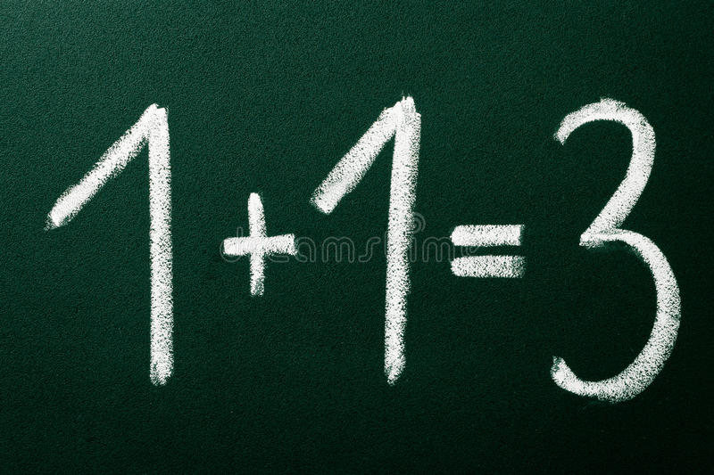 Download 1+1=3 As Mathematical Calculations Stock Photo - Image: 22208026