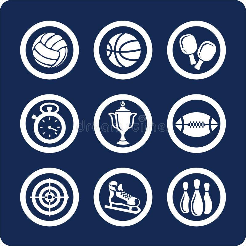 1 11个图标分开集合体育运动 库存例证