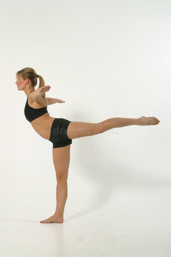 1 1m fitness model στοκ εικόνα