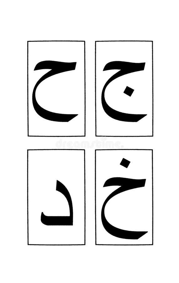 1 2个字母表阿拉伯零件 皇族释放例证