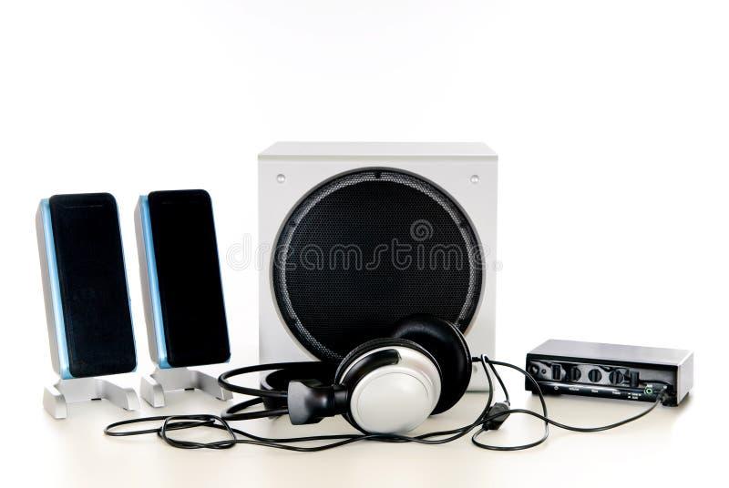 1 2高保真伴音系统 免版税库存图片