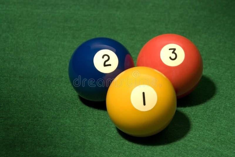 1 2 3个球池 免版税库存图片