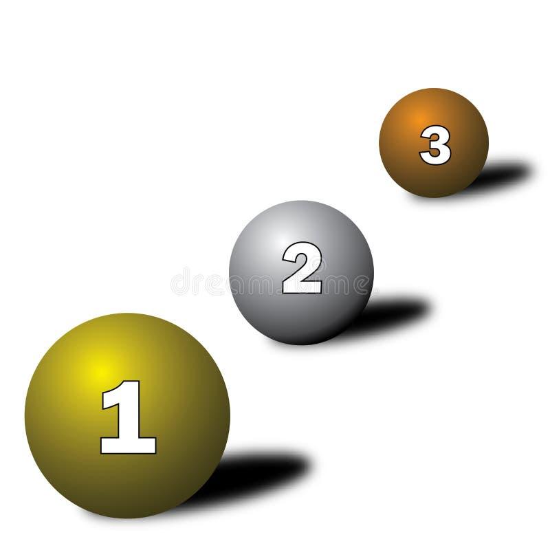 1-2-3 stock illustratie