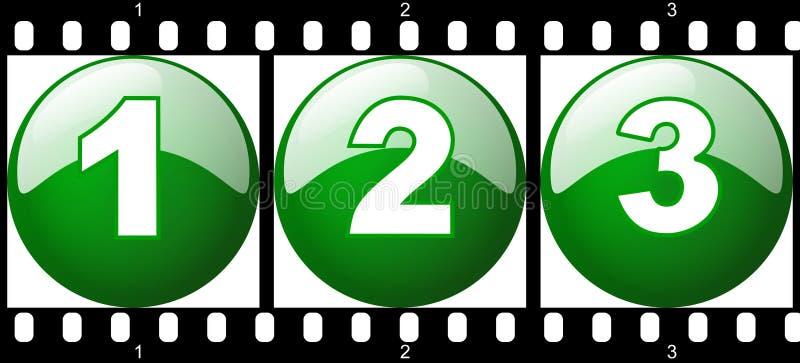 Download 1,2,3 Green Number Film Strip Stock Illustration - Illustration of shiny, filmstrip: 8904312
