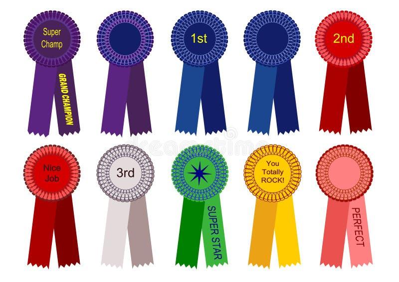 1., 2. und 3. Platz-Farbbänder und mehr