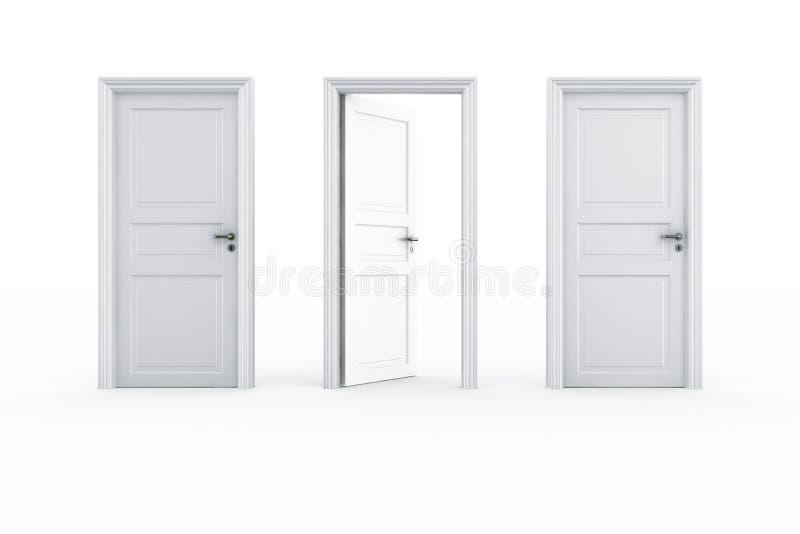 (1) 2 zamykający drzwi otwarty ilustracja wektor