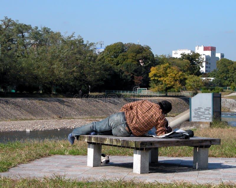 1个无家可归者 库存照片