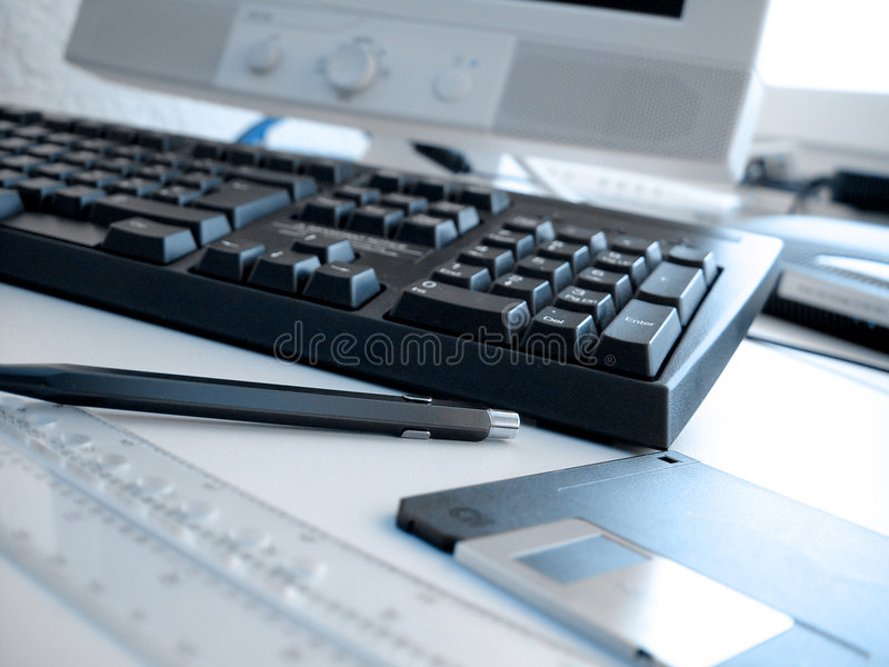 1个格式办公室 免版税库存照片