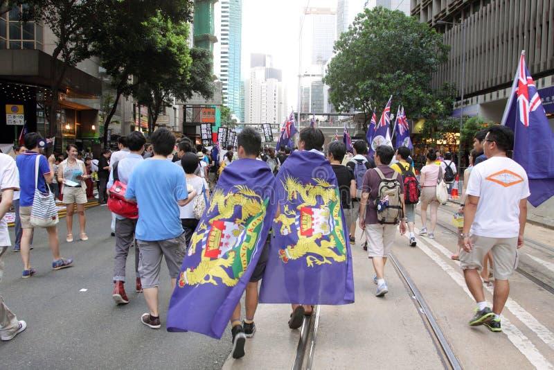 (1) 2012 Hong Lipiec kong marszów obraz royalty free