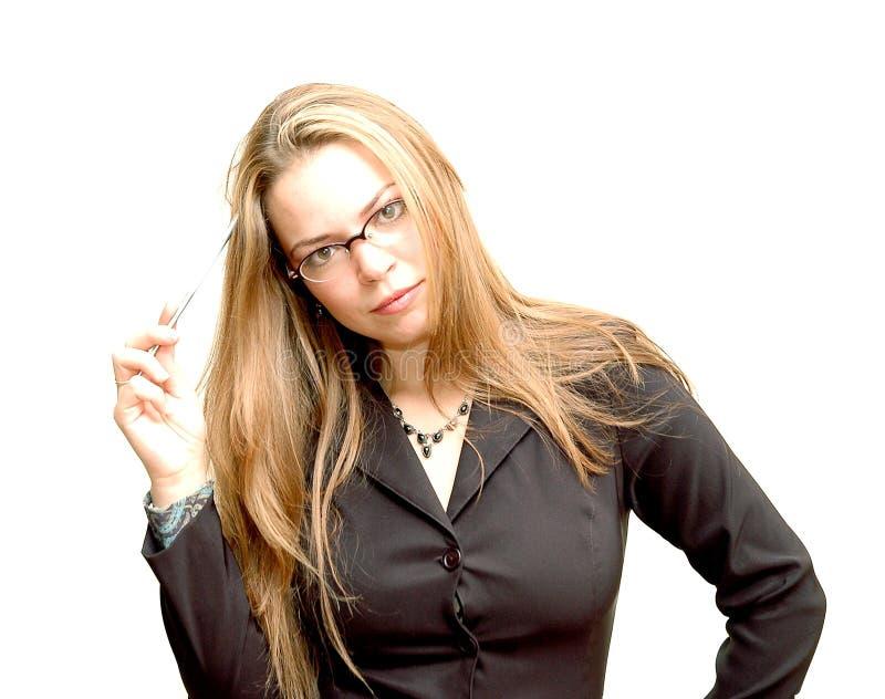 1名女实业家 库存照片